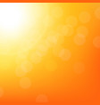 sunbeam background with bokeh vector image vector image