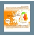 Template candy packaging Pear sweets vector image