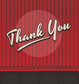 thank you live stage red curtain vector image vector image