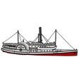 Vintage paddle steamer vector image vector image