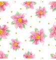 watercolor christmas poinsettia flower vector image vector image
