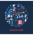 Winter Time Card Background vector image vector image