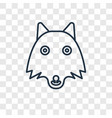 wolf concept linear icon isolated on transparent vector image