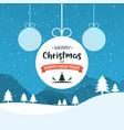 xmas ball background holiday card vector image vector image
