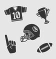 american football symbol vector image