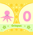 the english alphabet with octopus vector image