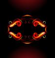 Fiery label vector image