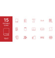 15 text icons vector image vector image