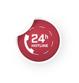 24 hours of support icon sticker vector image