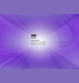 abstract geometric purple color modern design vector image