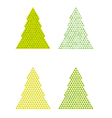 abstract trees with triangle on the top vector image vector image