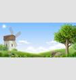 banner natural fantasy landscape vector image vector image