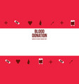 banner of world blood donor day collection vector image vector image