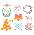 BIG Wedding graphic set vector image vector image