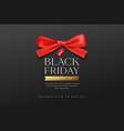 black friday sale red ribbons banner design vector image vector image