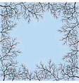 blooming trees and blue sky vector image vector image