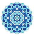 blue abstract mandala vector image