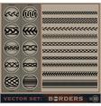 Boarder Set vector image vector image