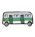 bus on white background cute cartoon transport vector image