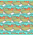 camping adventure badges pattern outdoor vector image vector image