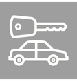Car and Key vector image vector image