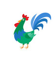 cartoon cock isolated on white cartoon character vector image