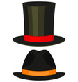 cartoon icon poster man father dad day tall hat vector image vector image