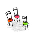 Chairs Hand-drawn graphic elements vector image vector image