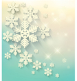 Christmas postcard with snowflakes vector image