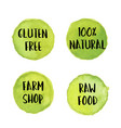 circle light green label with text vegan and vector image vector image