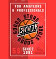 color vintage sport goods banner vector image vector image