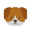 cute face doggy pet icon vector image vector image