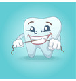 cute smiling tooth concept background cartoon vector image vector image