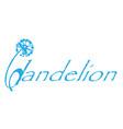 dandelion logo vector image