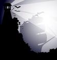 dark landscape vector image vector image