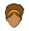 default woman avatar people female icon vector image