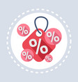 discount percent tag icon shopping special offer vector image