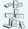 Dominoes set vector image vector image