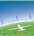 edinburgh skyline flight destination vector image vector image