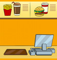 fast food restaurant pop art vector image