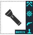 flashlight icon flat vector image vector image