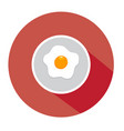 fried egg flat vector image vector image
