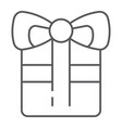 gift thin line icon celebration and package vector image vector image