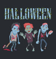 halloween with zombies on vector image vector image