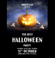 happy halloween holiday party poster vector image vector image