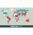 High Detail Geopolitical World Map vector image vector image
