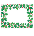 Holly christmas frame vector image vector image