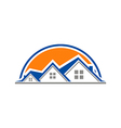 House properties home logo vector image