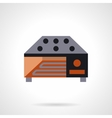 Industrial food dryer flat icon vector image vector image