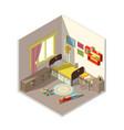 interior children bedroom with window vector image vector image